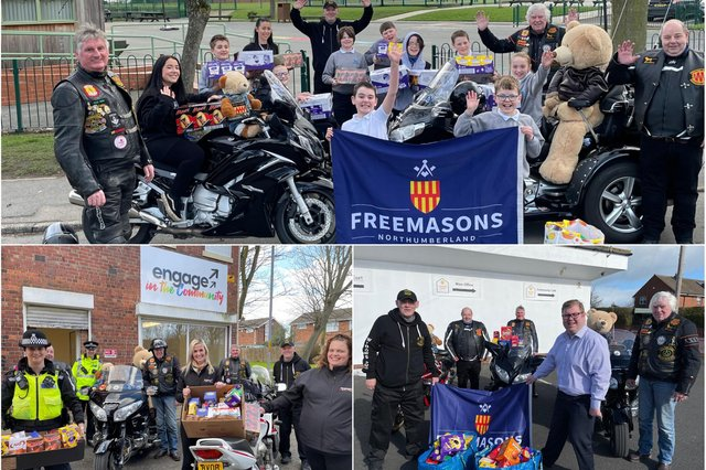 Masonic bikers are delivering Easter eggs to good causes.