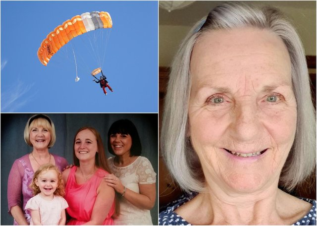 Joan Ford is doing a sponsored skydive.