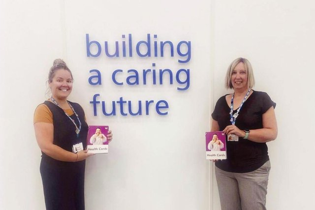 SamGibson, left,and Sarah Barnard,professional lead,learning disabilities acute liaison safeguarding (children andadults) for the trust service.