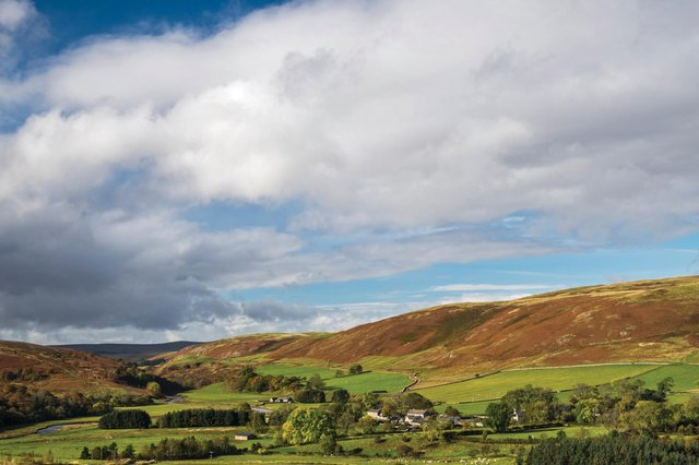 Looking west down the Coquet Valley towards the village of Alwinton. Picture: David Taylor/NNP