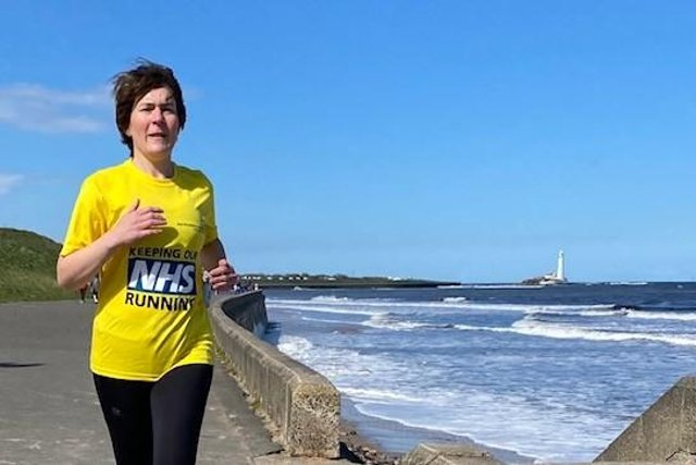 Eleanor Grogan, a palliative medicine consultant and senior lecturer, who is taking part in the Great North Run in aid of Bright.