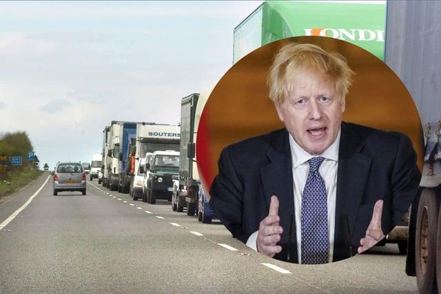 Boris Johnson has pledged the dualling of the A1 to Scotland