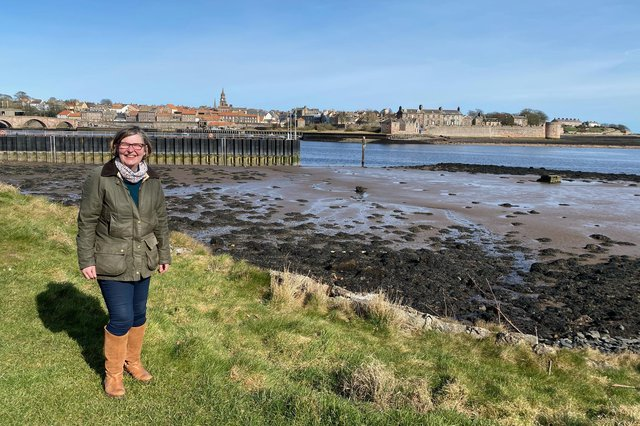 Cllr ClareRaybould by the River Tweed, Berwick.