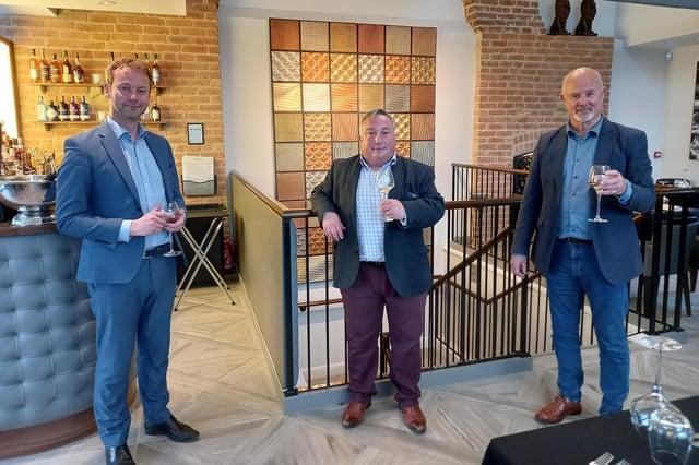 From left, Coun Richard Wearmouth, Coun David Bawn and David Nicholson.