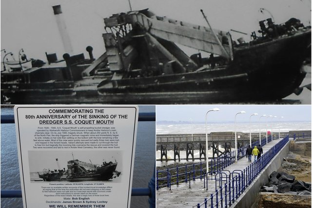 An information board commemorating the SS Coquet Mouth tragedy has been installed on Amble Pier.