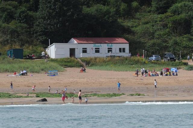 Coldingham beach.