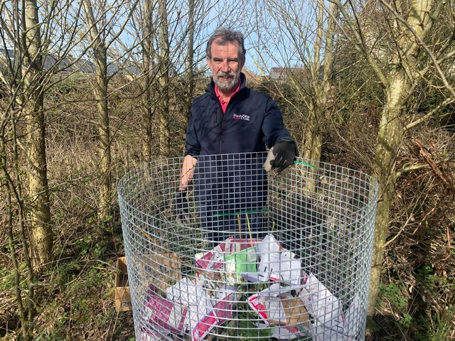 Westgate Labs founding director David Booth busy with composting.
