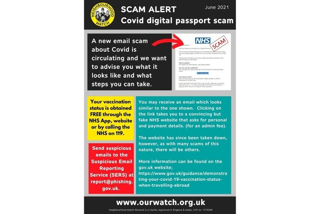 The scam is circulating on-line