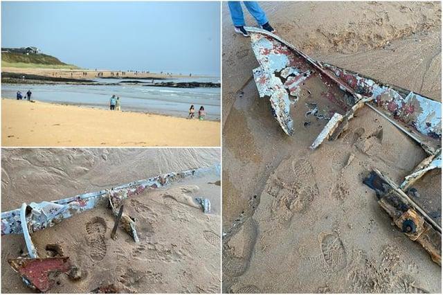 The wreckage found at Embleton Bay.