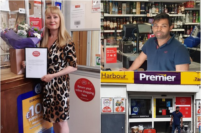 Susan Swinhoe has retired as postmistress, with services moving to Sugarnan Ramachandran's store at Newburgh Street.