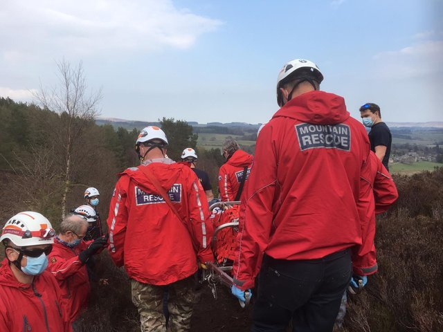 Northumberland National Park Mountain Rescue Team shared this photo following the rescue.