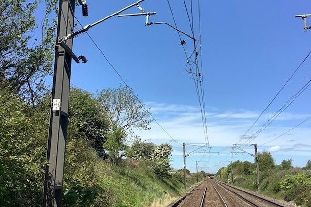 Overhead wires have been damaged between Newcastle and Berwick.