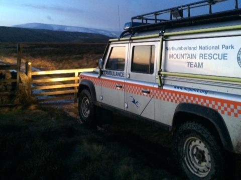 Northumberland National Park Mountain Rescue Team. Picture: Iain Nixon