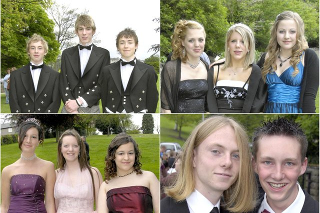 Students at the Duchess's Community High School prom in Alnwick in 2007.