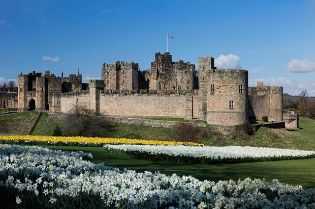 Alnwick Castle has reopened its grounds to visitors in line with the easing of Covid-19 restrictions.