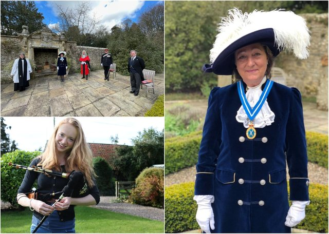 The installation of Joanna Riddell as High Sheriff of Northumberland.