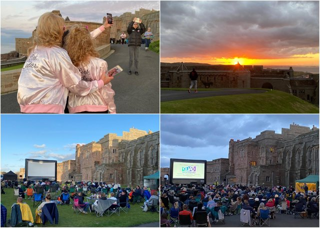 Images from Bamburgh Castle's cinema nights on August 13 and 14, 2021.