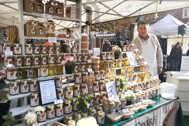 Picture of The Honey Store at the 2018 festival by Jane Coltman. The Honey Store will be attending the upcoming mini Food and Drink Festival in Morpeth.