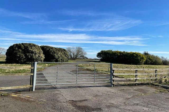 A view of the proposed campsite near Boulmer.