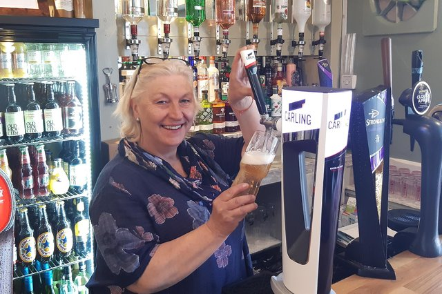 Jackie McDougall, landlady at The Bluebell Inn.