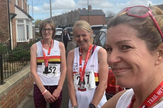 Some of the runners from Alnwick who competed in the Outlaws 10k.