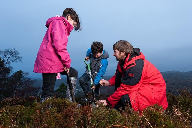 Young people doing their bit for nature. Picture: Ben Hall