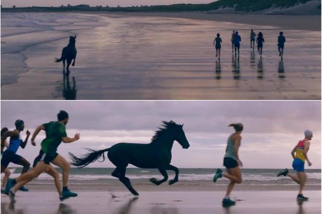 Lloyds Bank filmed its latest TV ad at Beadnell beach.
