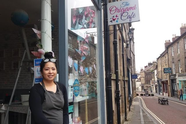 Judy Wong of The Origami Cafe in Alnwick.